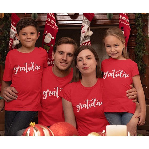 Kit Camiseta Família Natal - 4 peças - CA1037
