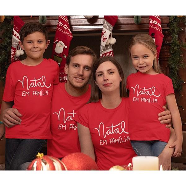 Kit Camiseta Família Natal - 4 peças - CA1039