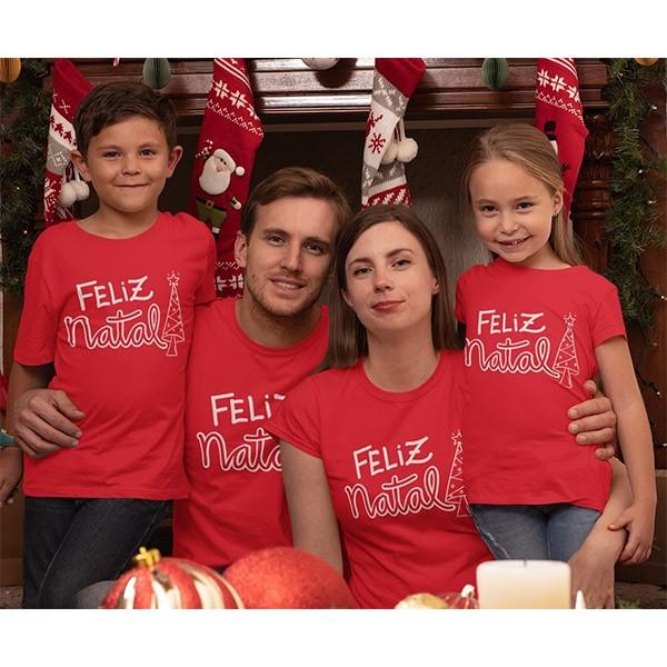 Kit Camiseta Família Natal - 4 peças - CA1040