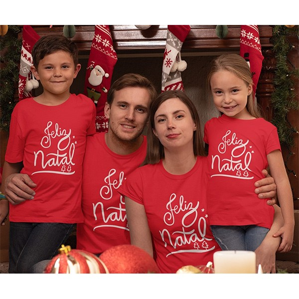 Kit Camiseta Família Natal - 4 peças - CA1041