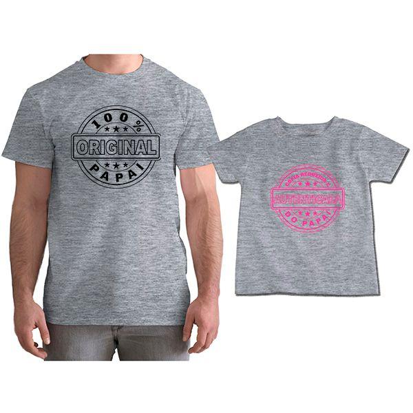 Kit Camisetas Tal Pai Tal Filha Cópia Reduzida e Autenticada do Papai CA0818
