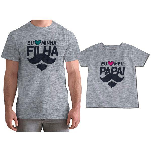Kit Camisetas Tal Pai Tal Filha Eu Amo Meu Papai CA0819