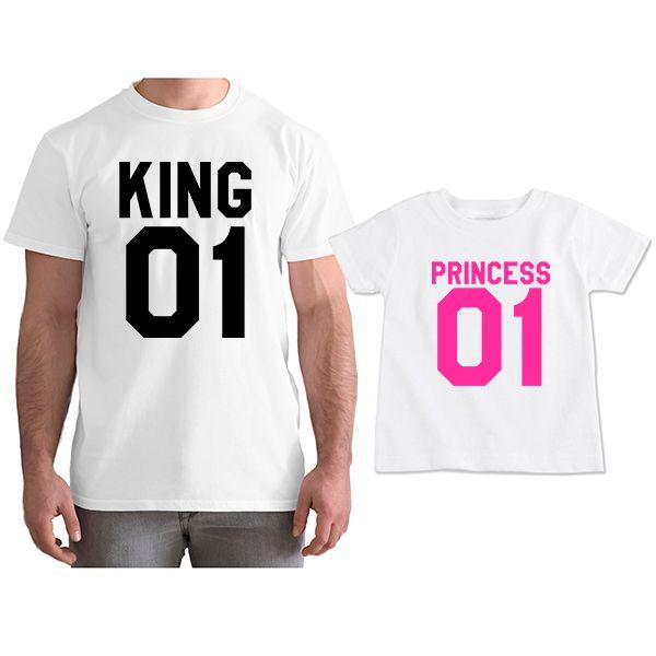 Kit Camisetas Tal Pai Tal Filha King e Princess CA0774