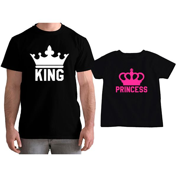 Kit Camisetas Tal Pai Tal Filha King e Princess CA0775