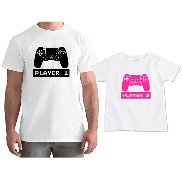 Kit Camisetas Tal Pai Tal Filha VÍdeo Game PS4 CA0778
