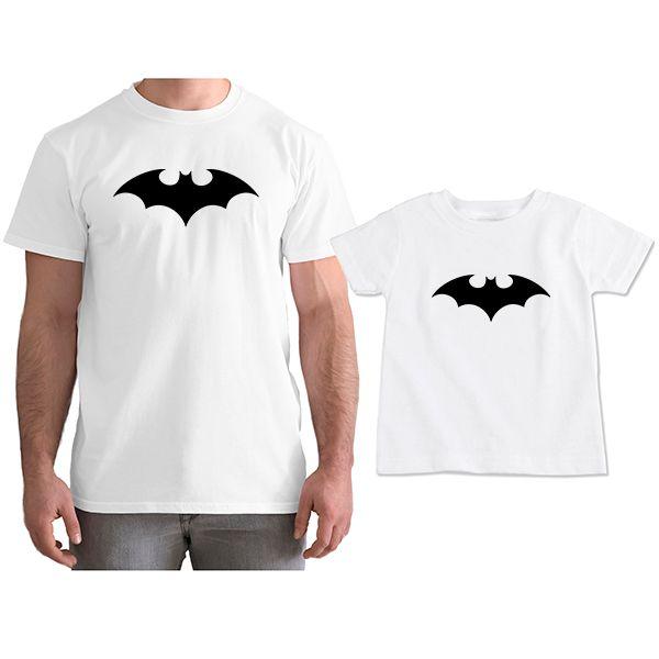 38c95e1532bc12 Kit Camisetas Tal Pai Tal Filho Batman CA0753