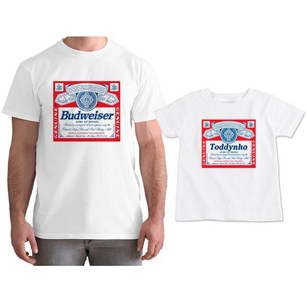 Kit Camisetas Tal Pai Tal Filho Cerveja Budweiser CA0805