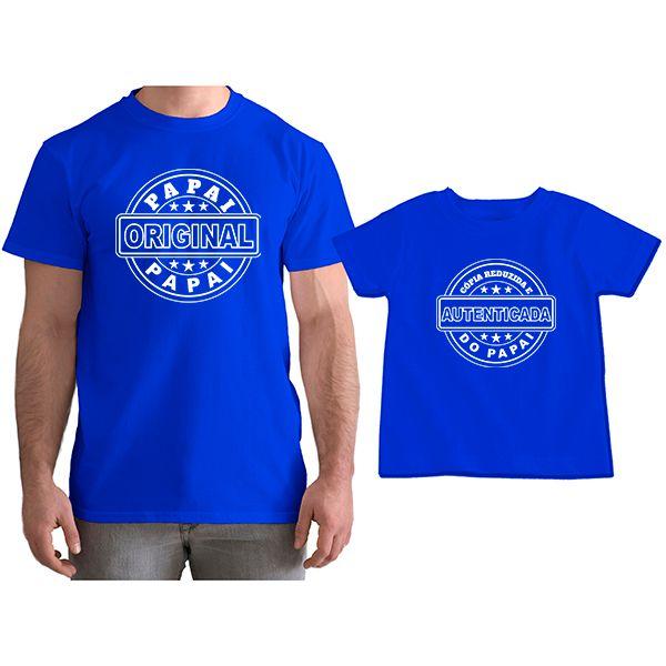 Kit Camisetas Tal Pai Tal Filho Cópia Reduzida e Autenticada do Papai CA0807