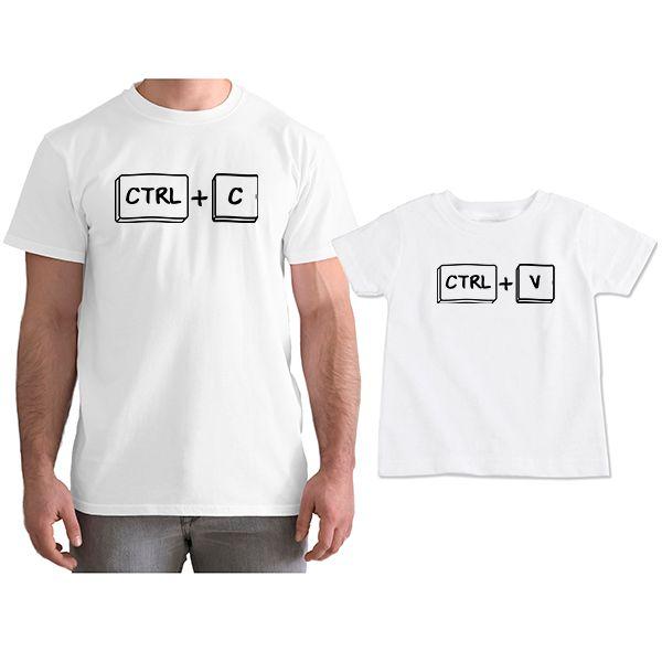 Kit Camisetas Tal Pai Tal Filho Ctrl C Ctrl V CA0755