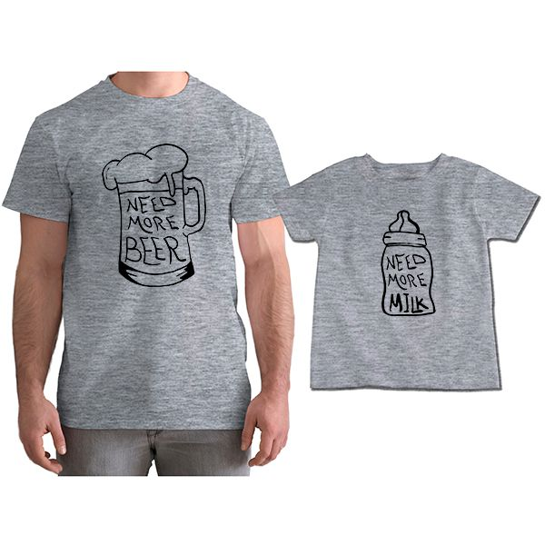 Kit Camisetas Tal Pai Tal Filho Need More Beer CA0814