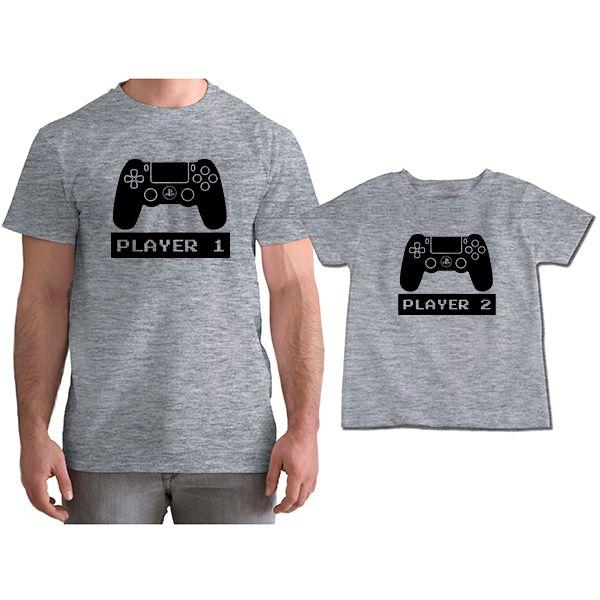 Kit Camisetas Tal Pai Tal Filho VÍdeo Game PS4 CA0759
