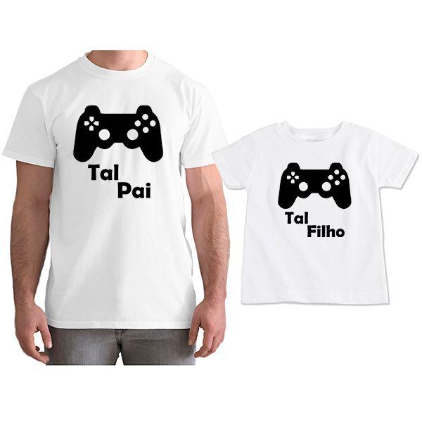 Kit Camisetas Tal Pai Tal Filho VÍdeo Game PS4 CA0760