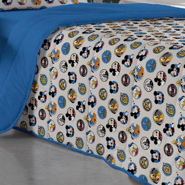 Kit Jogo de Cama Solteiro Amigos do Mickey - 3 Peças