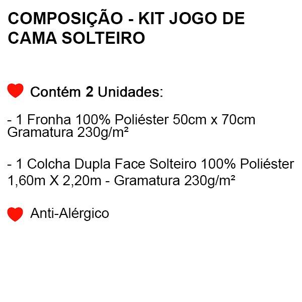 Kit Jogo de Cama Solteiro Dragon Ball - 2 Peças - FR1059