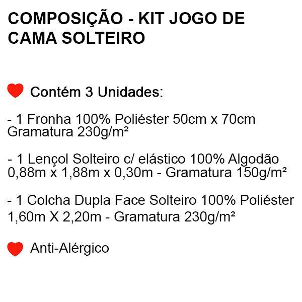 Kit Jogo de Cama Solteiro Os Vingadores - 3 Peças - FR0969