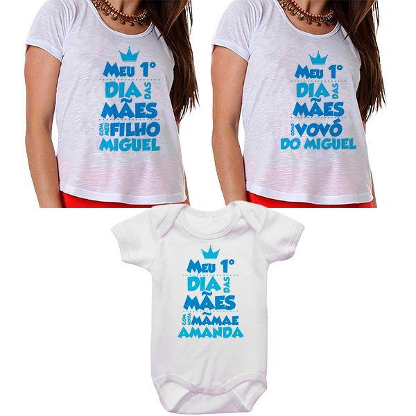 Kit Meu Primeiro Dia das Mães Vovó Mamãe e Bebê CA0670