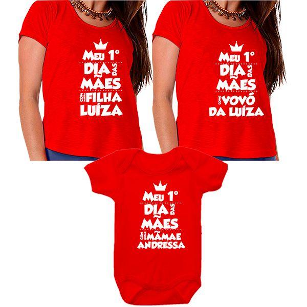 Kit Meu Primeiro Dia das Mães Vovó Mamãe e Bebê CA0671