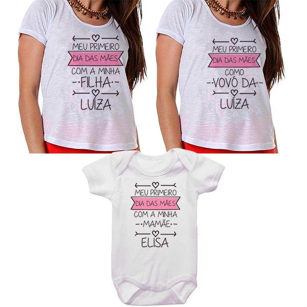 Kit Meu Primeiro Dia das Mães Vovó Mamãe e Bebê CA0673