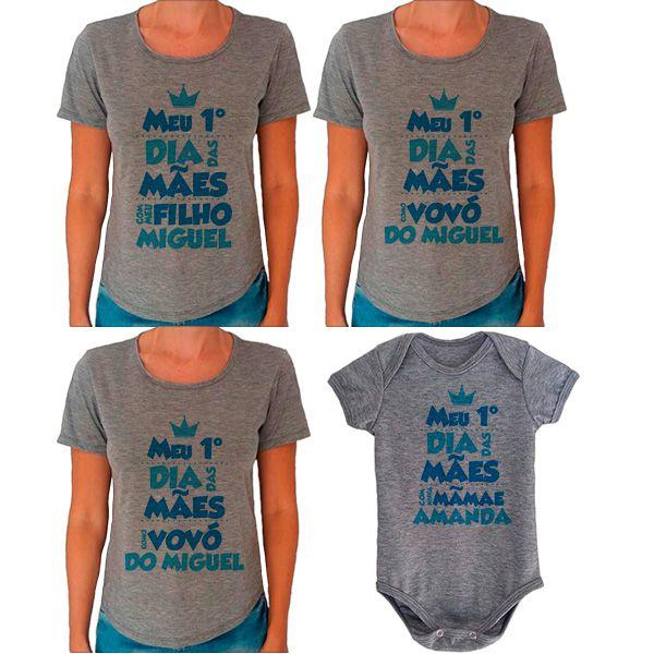 Kit Meu Primeiro Dia das Mães Vovós Mamãe e Bebê CA0680