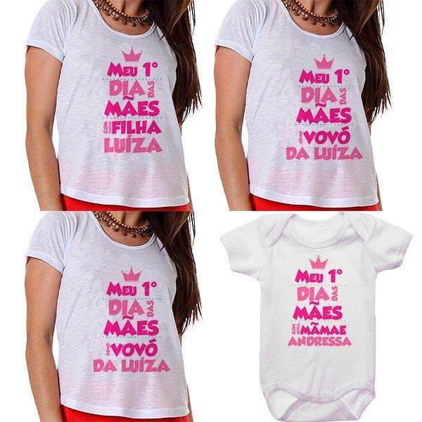 Kit Meu Primeiro Dia das Mães Vovós Mamãe e Bebê CA0681