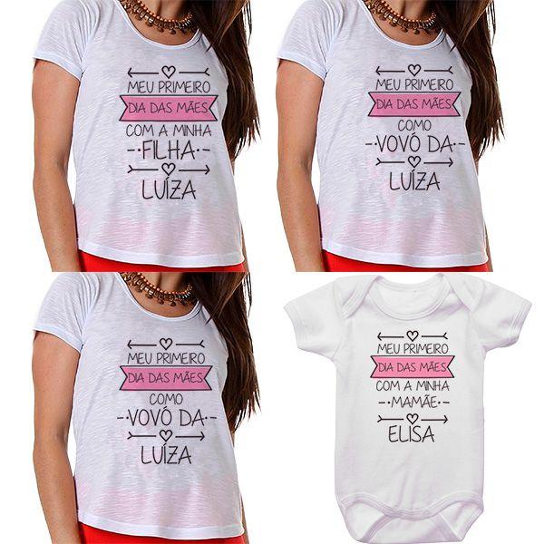 Kit Meu Primeiro Dia das Mães Vovós Mamãe e Bebê CA0683