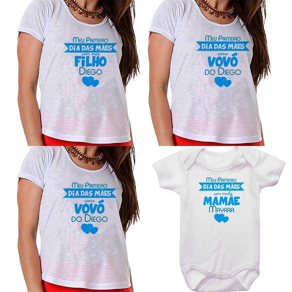 Kit Meu Primeiro Dia das Mães Vovós Mamãe e Bebê CA0686
