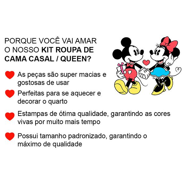 Kit Jogo de Cama Casal Minnie Lhama Rosa - 4 Peças