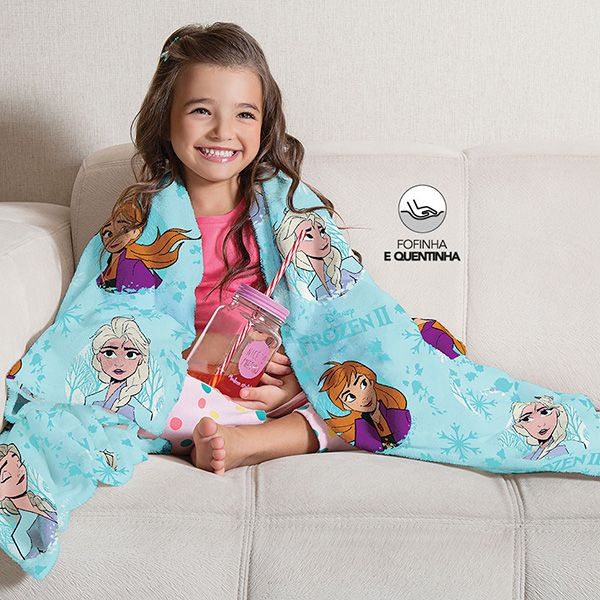 Manta Fleece Infantil Frozen - 1 Peça - FR0994