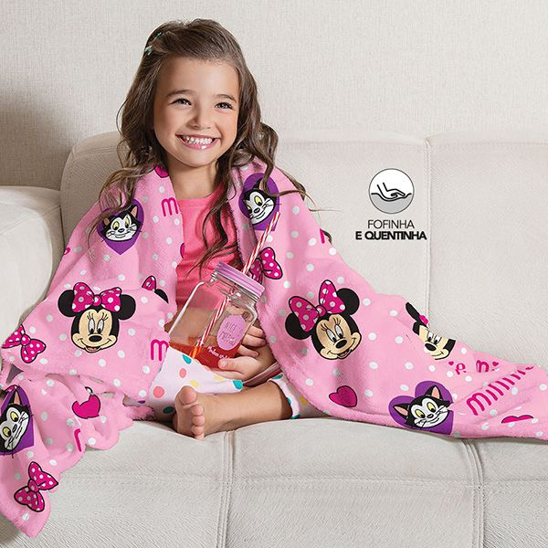 Manta Fleece Infantil Minnie - 1 Peça - FR0992