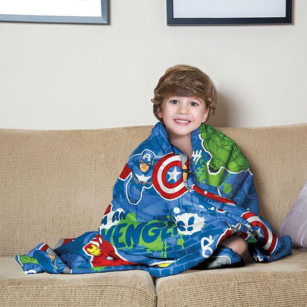 Manta Fleece Infantil Os Vingadores - 1 Peça - FR0991