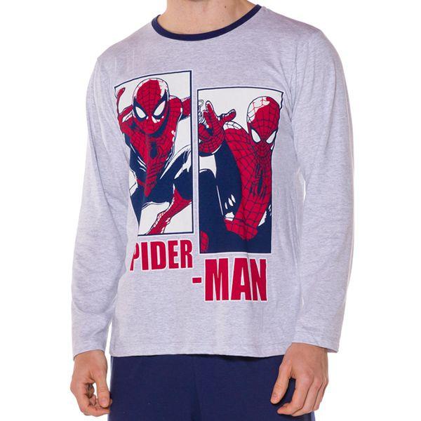 Pijama Adulto Manga Longa Homem Aranha