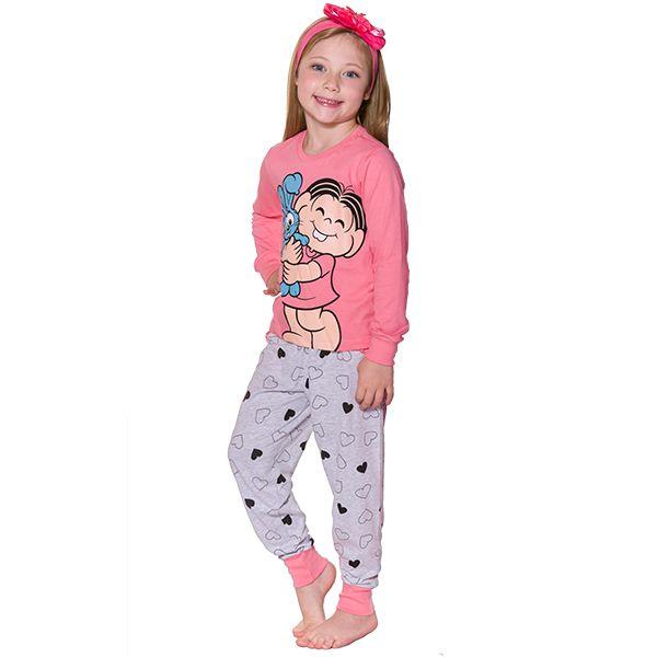Pijama Infantil Manga Longa Mônica