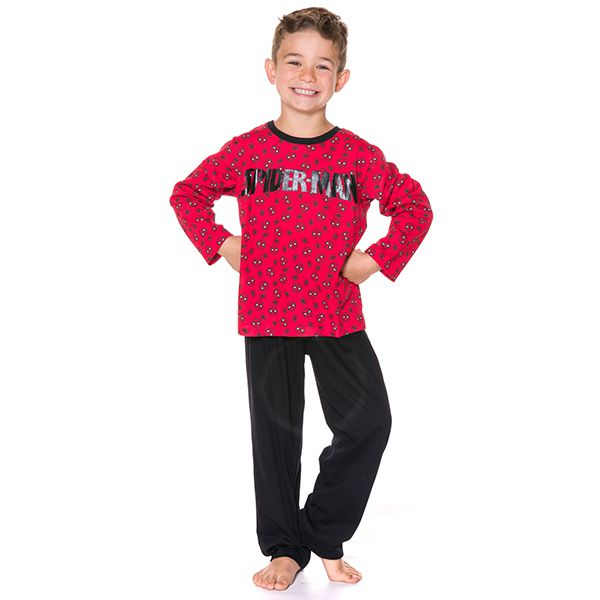 Pijama Infantil Manga Longa Spider Man