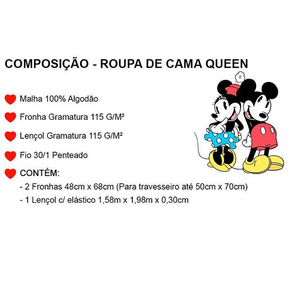 Jogo de Cama Casal Minnie Lhama Rosa - 3 Peças