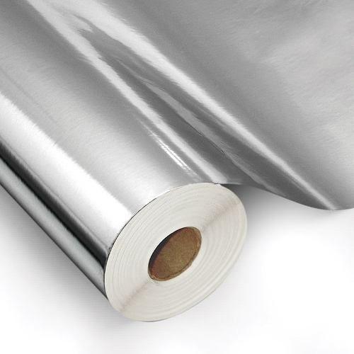 Papel Adesivo Contact Metalizado Espelhado Inox 45 Cm X 10 Mts