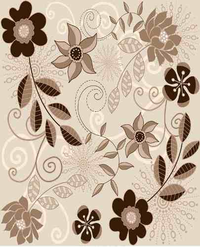 Papel Adesivo Contact Floral Flower 6 45cm X 10mt Lavavel