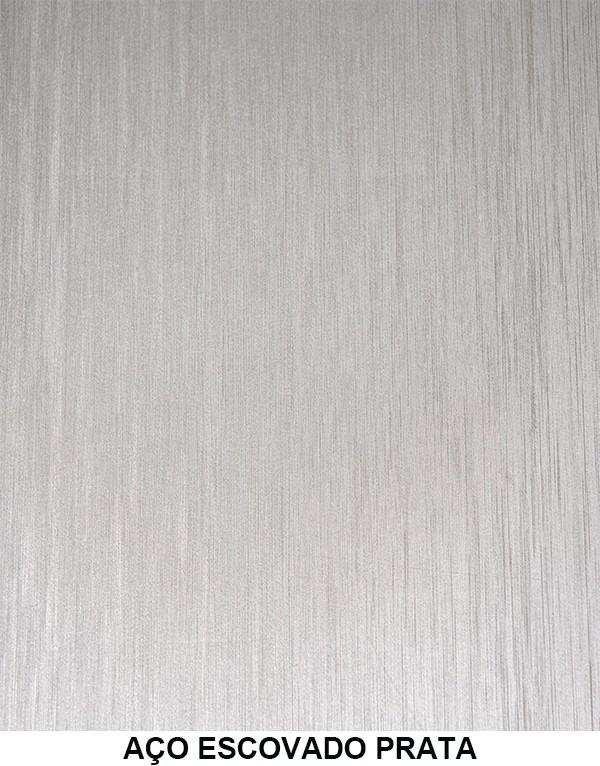 Contact Vinil Parede Moveis Geladeira Aço Escovado 10m x 45cm