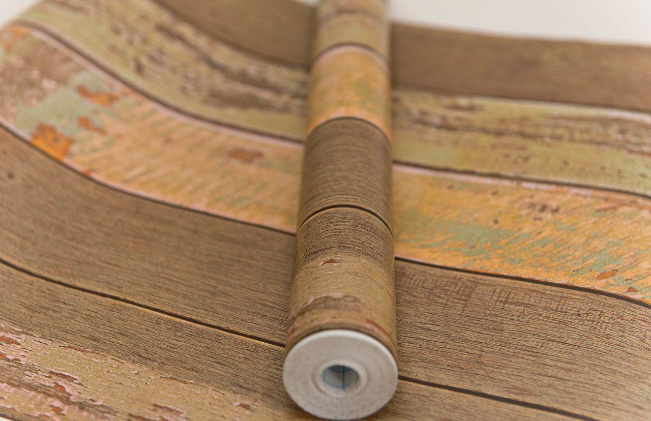 Papel Adesivo Contact De Parede Madeira De Demolição 45 Cm x 10 Mts