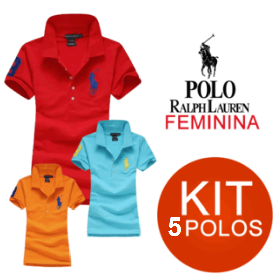 KIT 05 POLO RALPH LAUREN FEMININA - Maicon Fernando Pedroso f6ce97e70d3