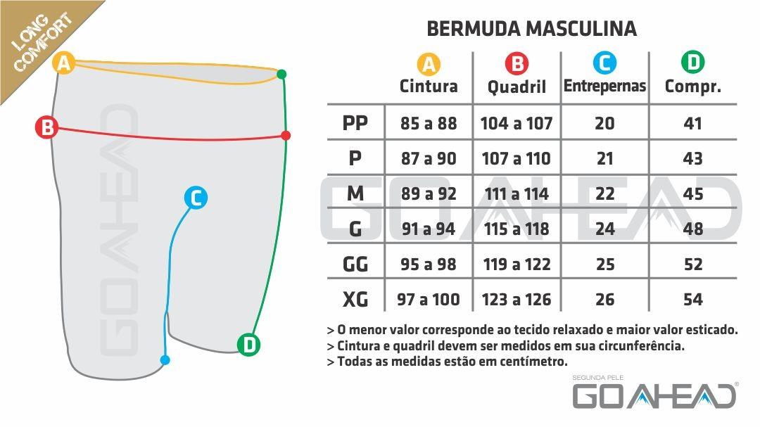 Bermuda segunda pele LONG COMFORT Masculino
