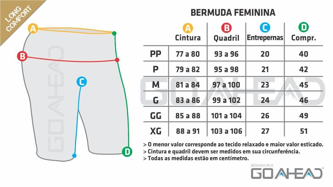 Bermuda segunda pele LONG COMFORT Feminino