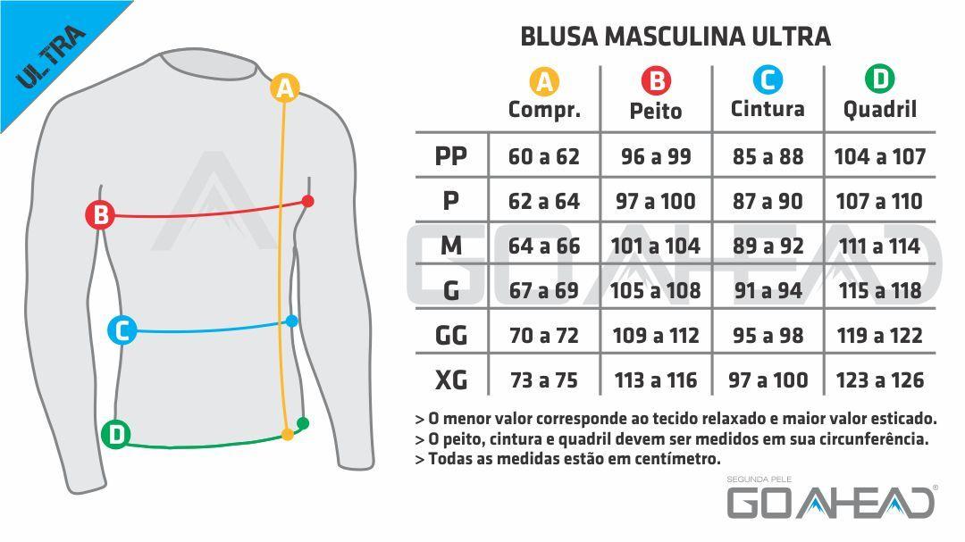 Blusa segunda pele ULTRA gola alta Masculino