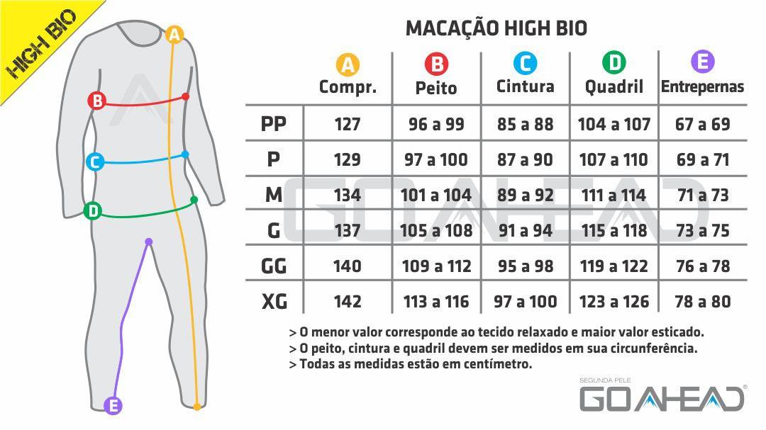 Macacão segunda pele HIGH BIO Unisex