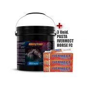 Kit Power Nutri Cavalo Manutenção 5kg + 3 Pasta vermífugo Ivermect Horse