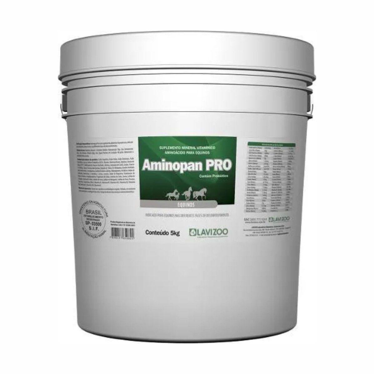 Aminopan PRO (Com Probiótico) Suplemento Equinos, Suínos e Aves - Lavizoo