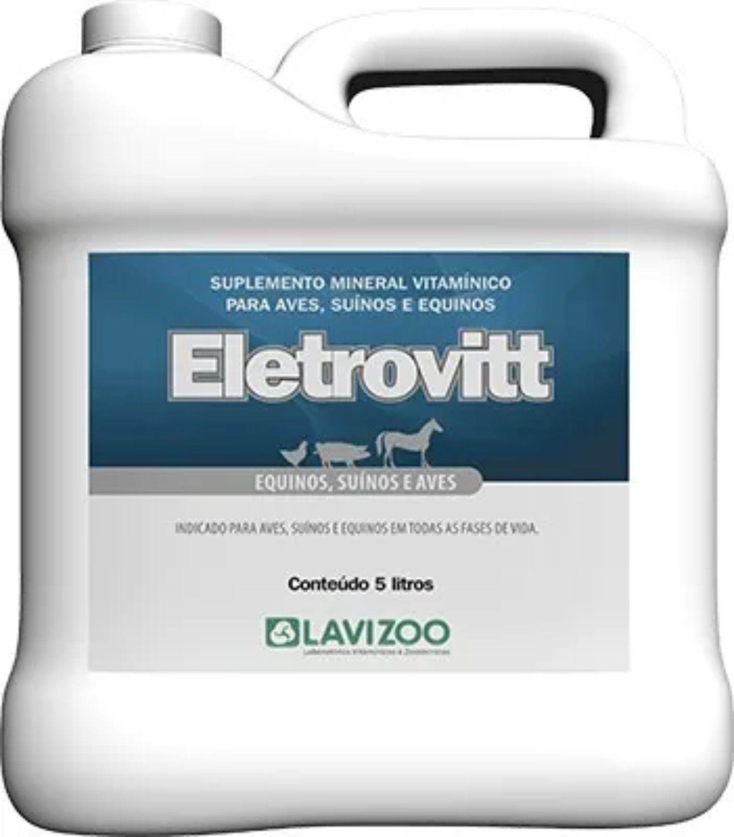 Eletrovitt Líquido - Vitaminas P/ Aves, Suínos e Equinos