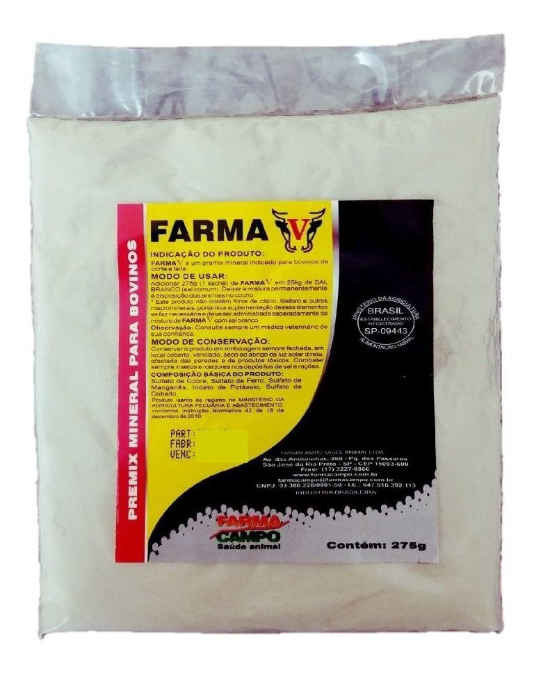 FARMA V - 9,9 kg - Controle de Vermes - Carência ZERO