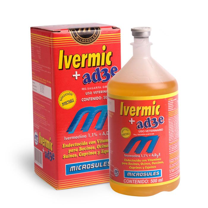 IVERMIC 1% + AD3E - 500 ml