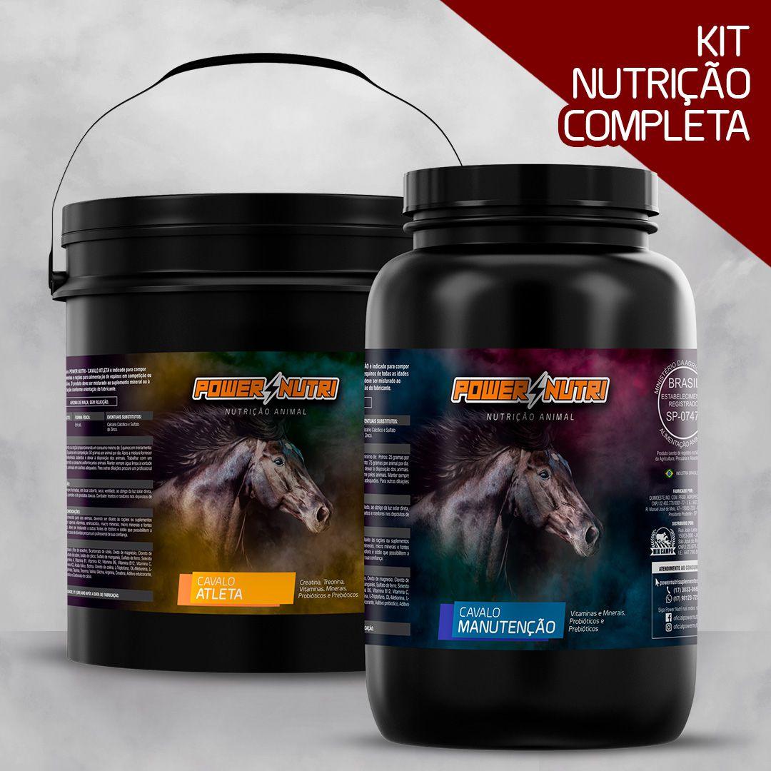 Kit Power Nutri Cavalo Atleta 5kg + Power Nutri Cavalo Manutenção 3kg