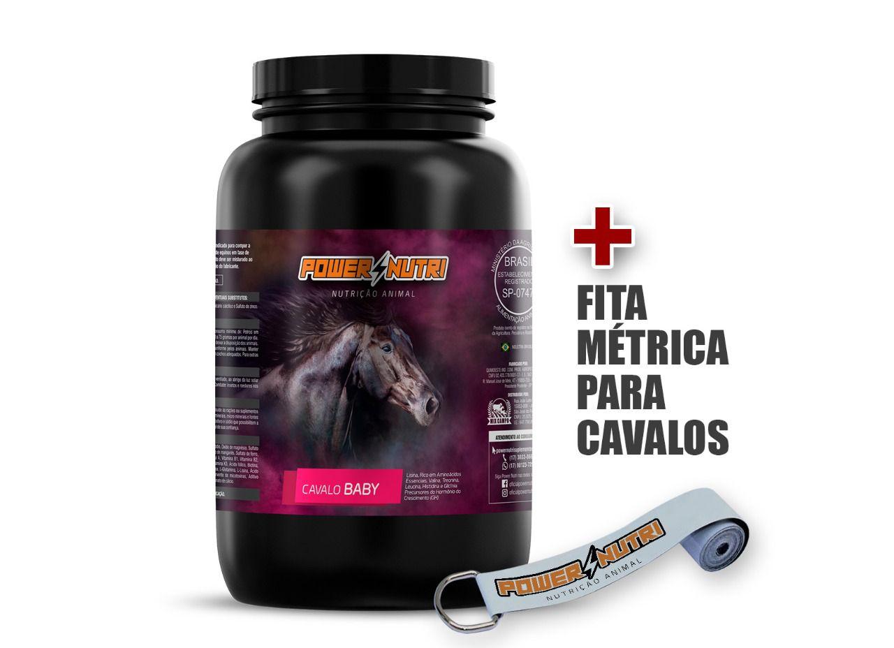 Kit Power Nutri Cavalo Baby 3kg + 1 Fita métrica
